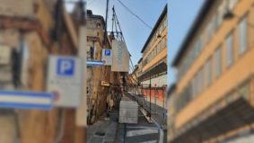 PUNTELLAZIONE MURO DI CINTA DELLA SCUOLA SANT'ANNA DI PISA 1-2021