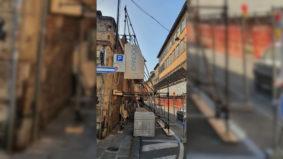 PUNTELLAZIONE MURO DI CINTA DELLA SCUOLA SANT'ANNA DI PISA 3-2021